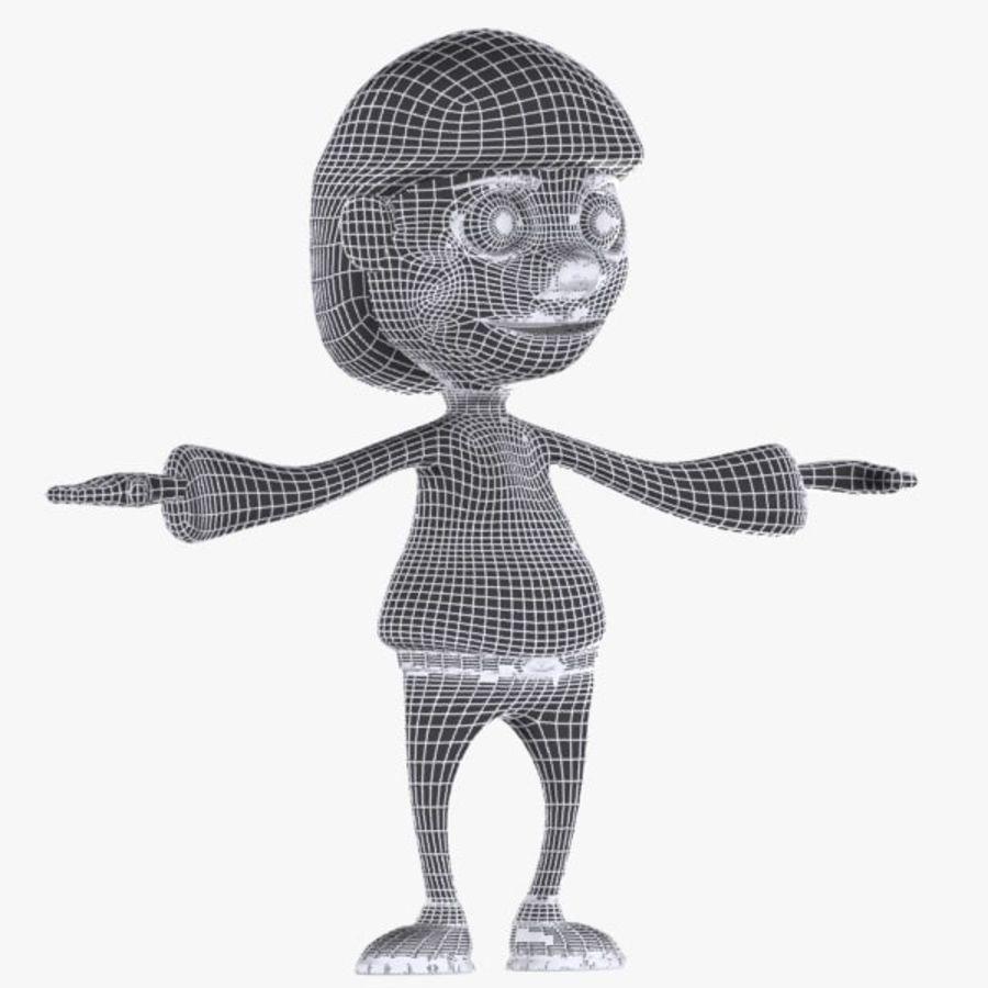 Tecknad pojke karaktär royalty-free 3d model - Preview no. 9