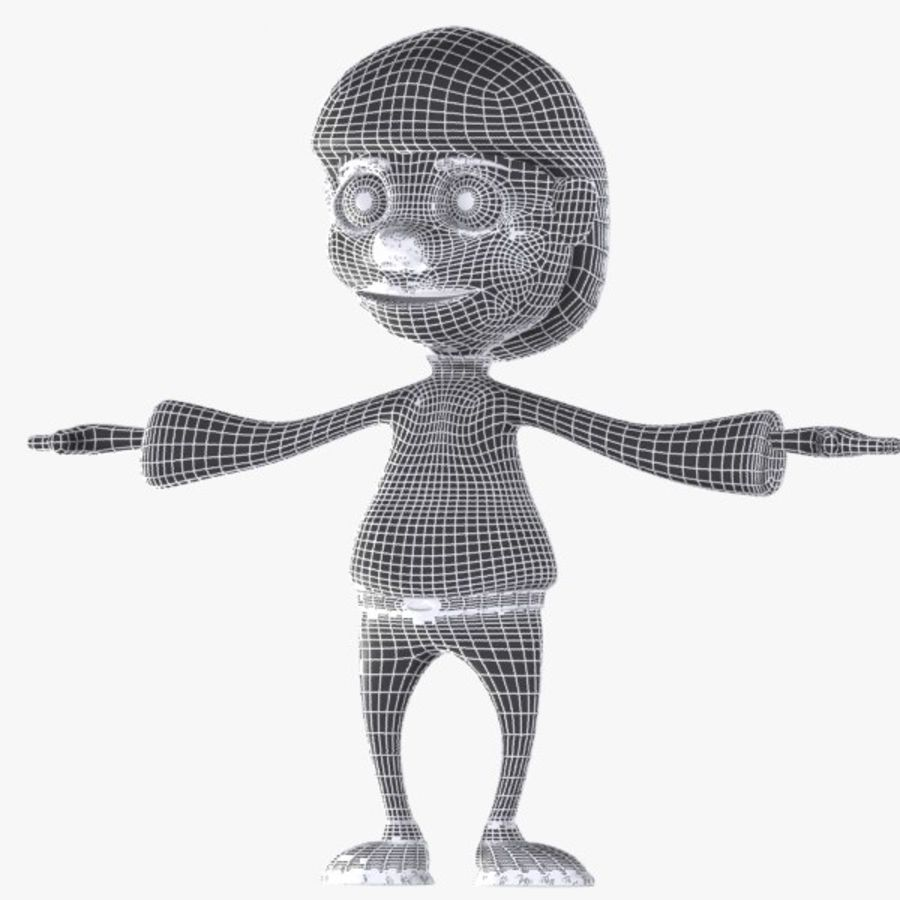 Cartoon Boy Character royalty-free 3d model - Preview no. 8