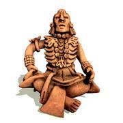 玛雅商人雕像 3d model