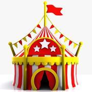 Cartoon Circus Tent 3d model