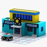 Cartoon Police Station 3d model