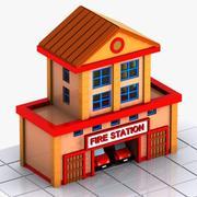 Пожарная станция 3d model