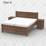 кровать Радек 2 3d model