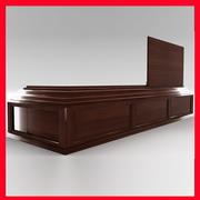 High Def All Wood BoxCoffin 3d model
