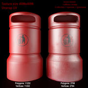 dustbin 03  trash can 03 3d model