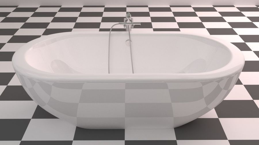 Badewanne royalty-free 3d model - Preview no. 7