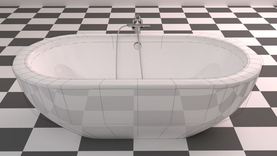 Badewanne royalty-free 3d model - Preview no. 13