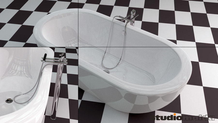 Badewanne royalty-free 3d model - Preview no. 1