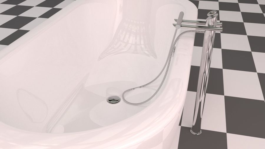 Badewanne royalty-free 3d model - Preview no. 6