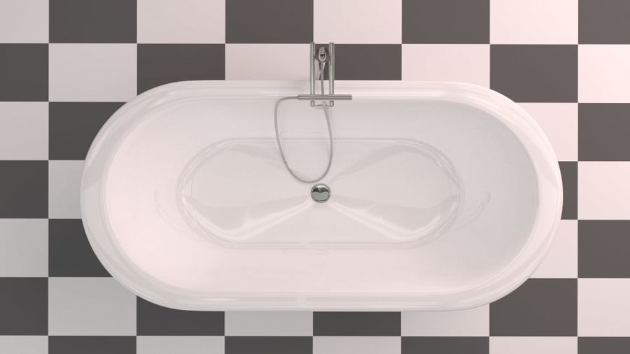 Badewanne royalty-free 3d model - Preview no. 9