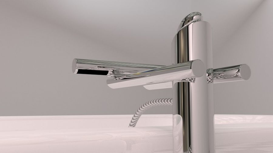 Badewanne royalty-free 3d model - Preview no. 10
