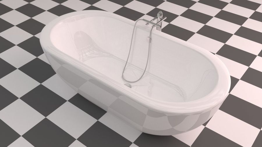 Badewanne royalty-free 3d model - Preview no. 5