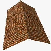 Roof Tiles Old House Construction 3d model