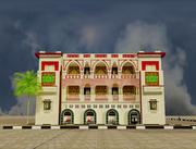 bâtiment islamique low poly 3d model