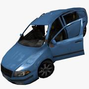 Заброшенный седан 3d model