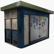 Old News Kiosk 3d model