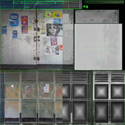 Chiosco di vecchie notizie 3d model