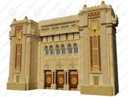 islamic gate 3d model