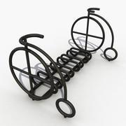 자전거 주차장 3d model