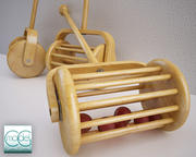 stara zabawka z kulkami 3d model