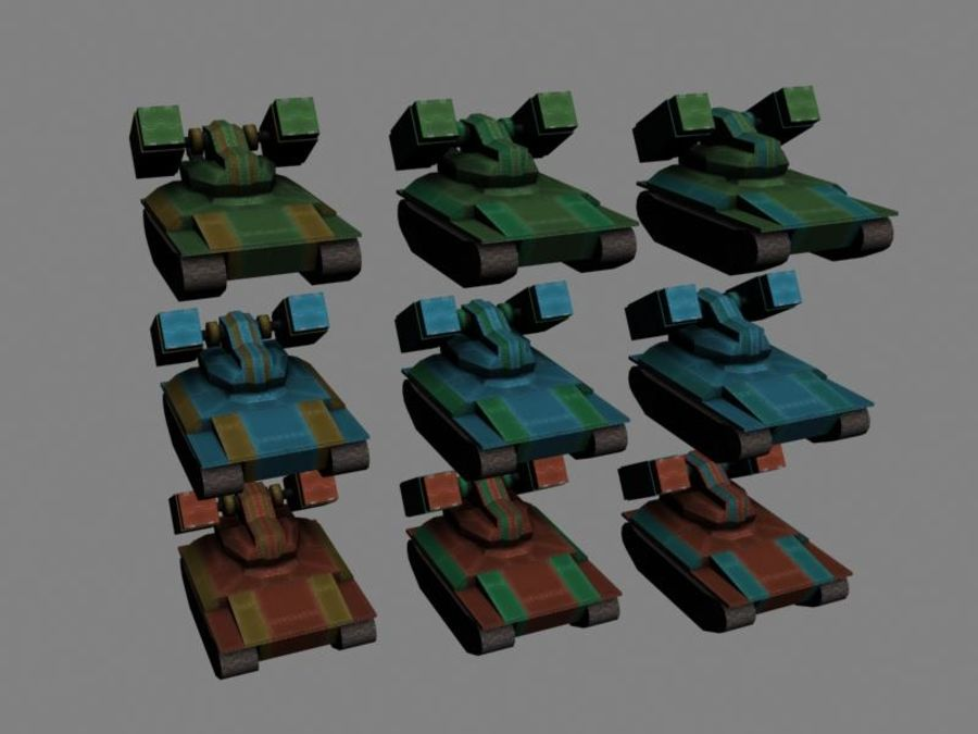 Lowpoly Scifi Military Vehicles Pack royalty-free 3d model - Preview no. 25