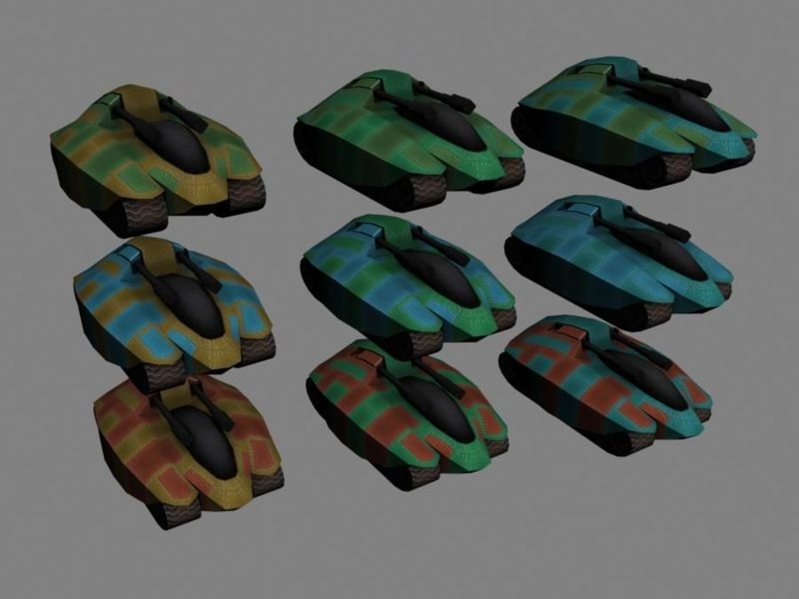 Lowpoly Scifi Military Vehicles Pack royalty-free 3d model - Preview no. 20