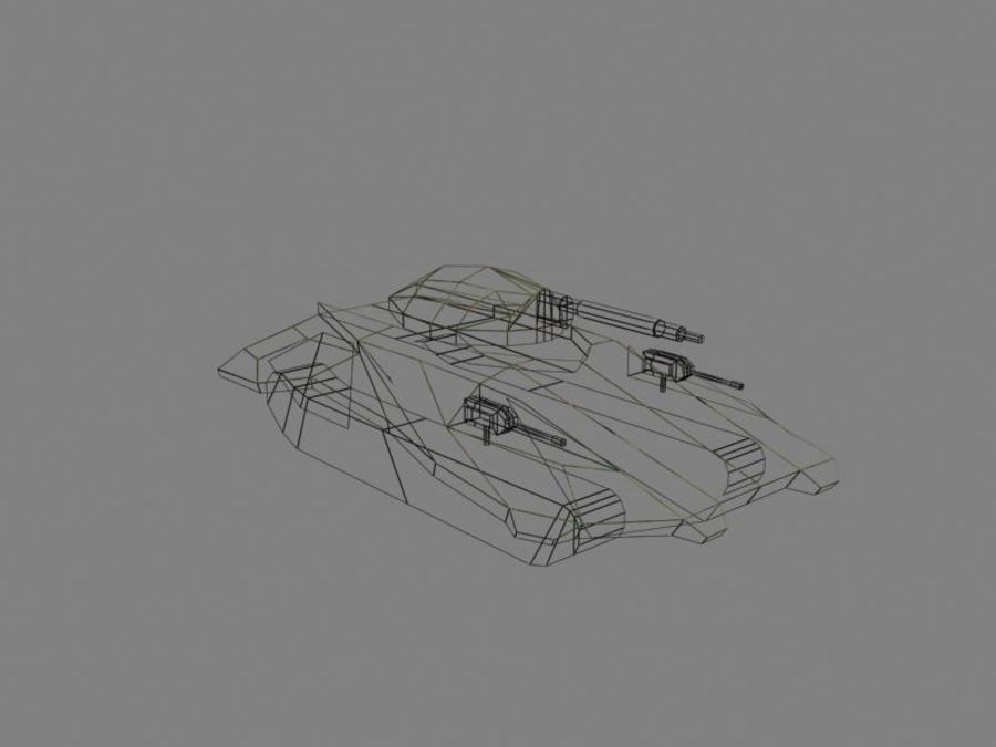 Lowpoly Scifi Military Vehicles Pack royalty-free 3d model - Preview no. 13