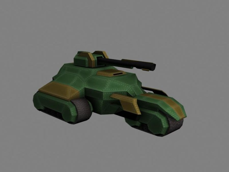 Lowpoly Scifi Military Vehicles Pack royalty-free 3d model - Preview no. 41