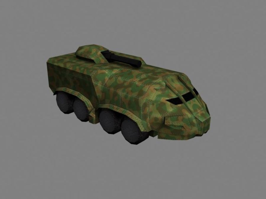 Lowpoly Scifi Military Vehicles Pack royalty-free 3d model - Preview no. 47