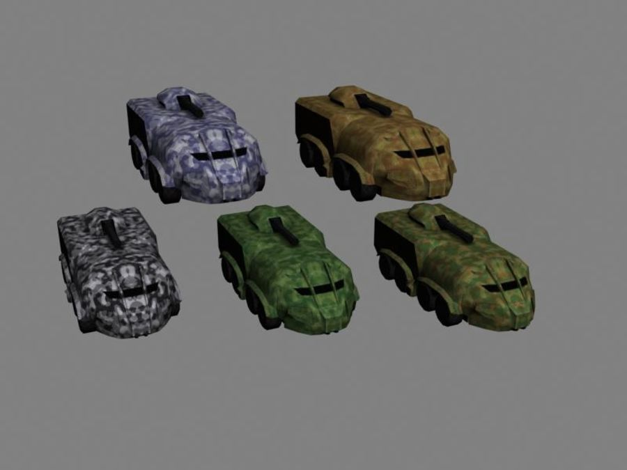 Lowpoly Scifi Military Vehicles Pack royalty-free 3d model - Preview no. 49
