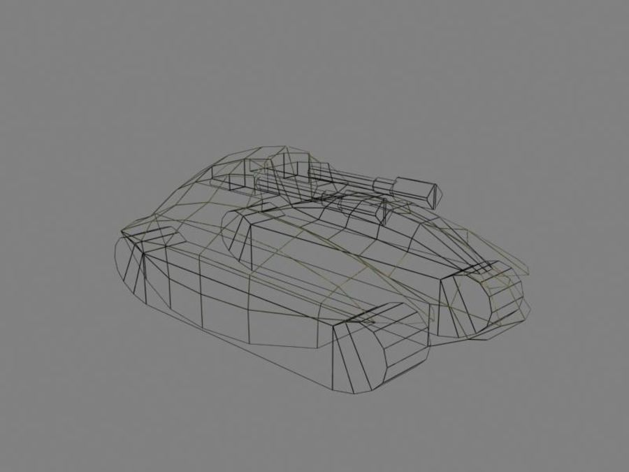 Lowpoly Scifi Military Vehicles Pack royalty-free 3d model - Preview no. 18