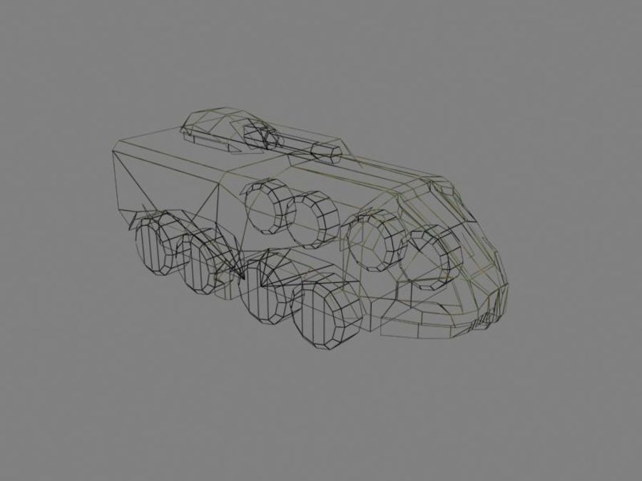 Lowpoly Scifi Military Vehicles Pack royalty-free 3d model - Preview no. 48