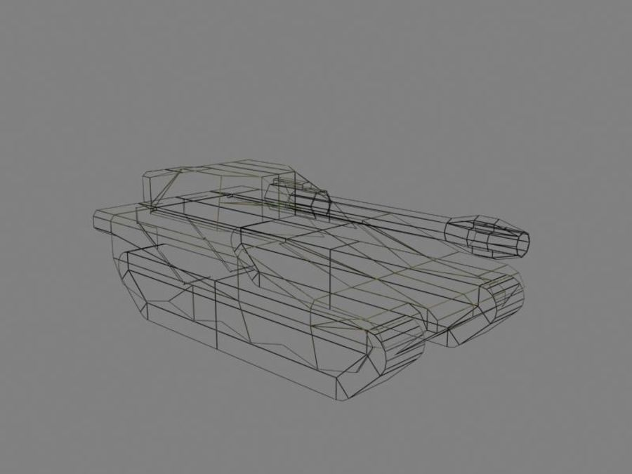 Lowpoly Scifi Military Vehicles Pack royalty-free 3d model - Preview no. 38
