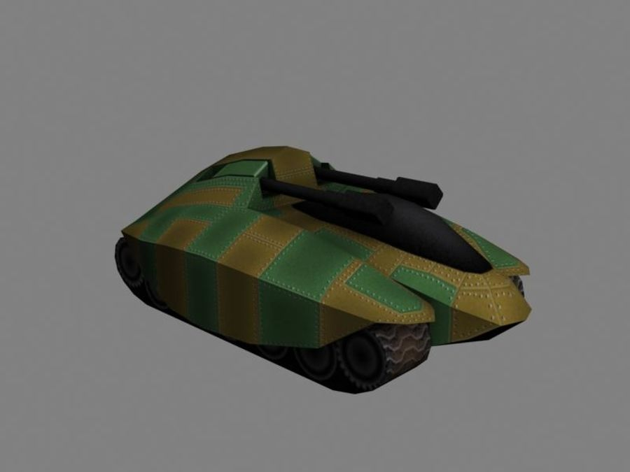 Lowpoly Scifi Military Vehicles Pack royalty-free 3d model - Preview no. 16