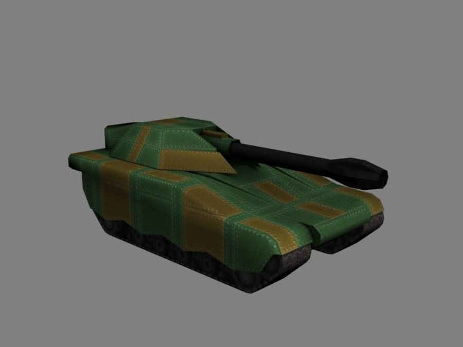 Lowpoly Scifi Military Vehicles Pack royalty-free 3d model - Preview no. 36