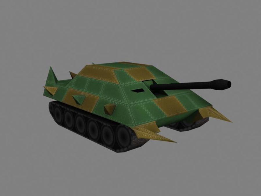 Lowpoly Scifi Military Vehicles Pack royalty-free 3d model - Preview no. 31