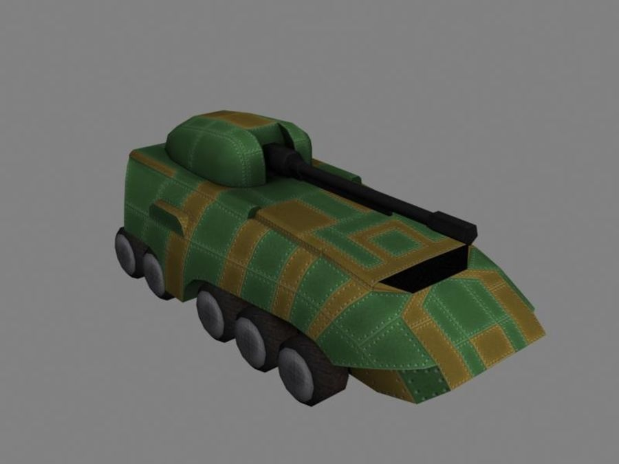 Lowpoly Scifi Military Vehicles Pack royalty-free 3d model - Preview no. 26