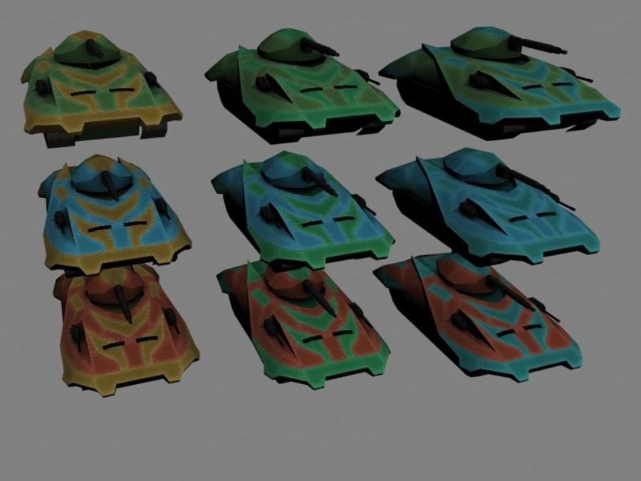 Lowpoly Scifi Military Vehicles Pack royalty-free 3d model - Preview no. 15