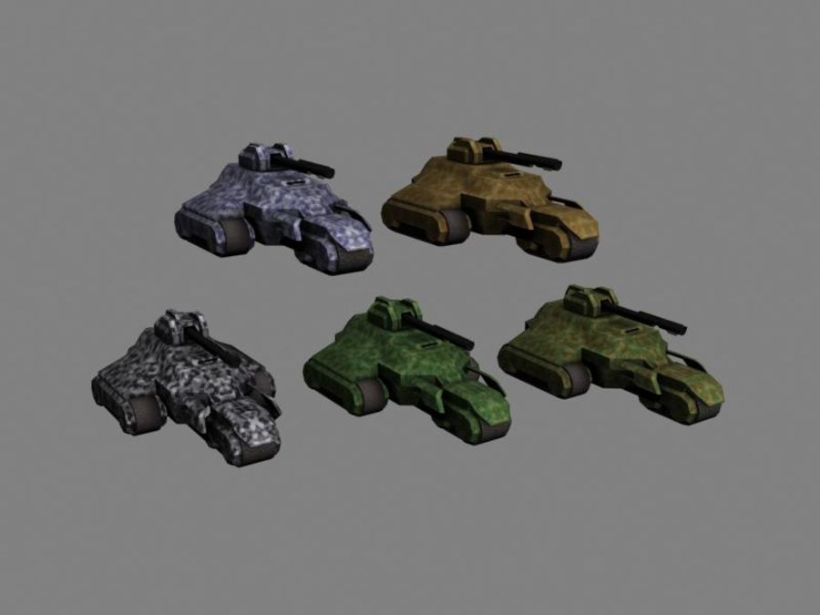 Lowpoly Scifi Military Vehicles Pack royalty-free 3d model - Preview no. 44