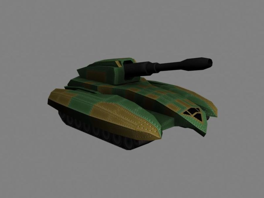 Lowpoly Scifi Military Vehicles Pack royalty-free 3d model - Preview no. 6