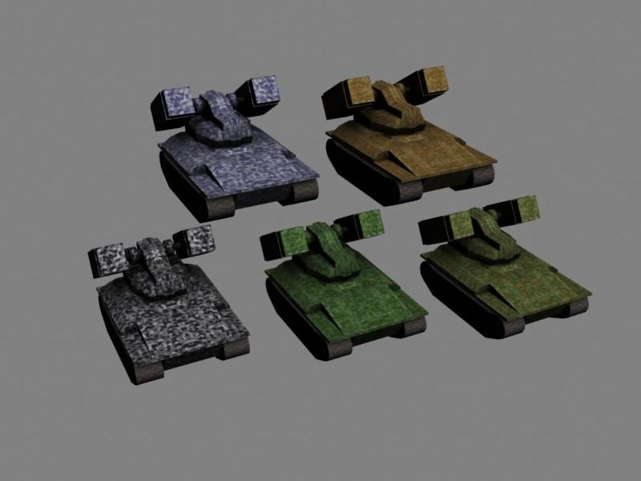 Lowpoly Scifi Military Vehicles Pack royalty-free 3d model - Preview no. 24