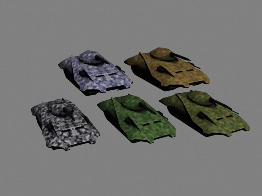 Lowpoly Scifi Military Vehicles Pack royalty-free 3d model - Preview no. 14