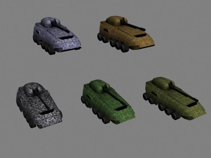 Lowpoly Scifi Military Vehicles Pack royalty-free 3d model - Preview no. 29