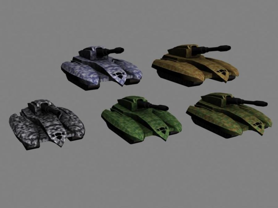 Lowpoly Scifi Military Vehicles Pack royalty-free 3d model - Preview no. 9