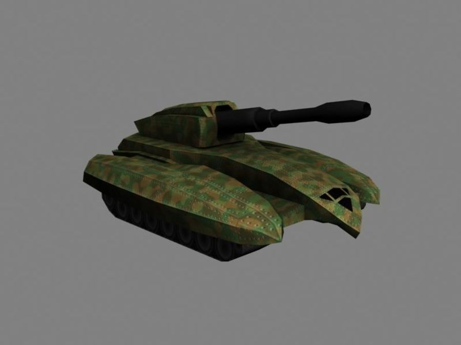 Lowpoly Scifi Military Vehicles Pack royalty-free 3d model - Preview no. 7