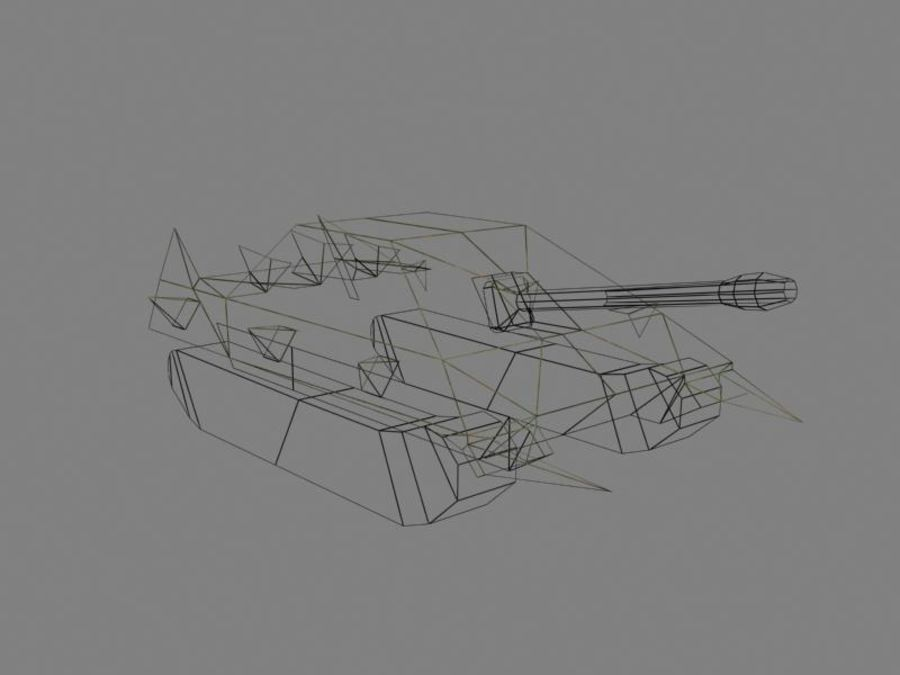 Lowpoly Scifi Military Vehicles Pack royalty-free 3d model - Preview no. 33