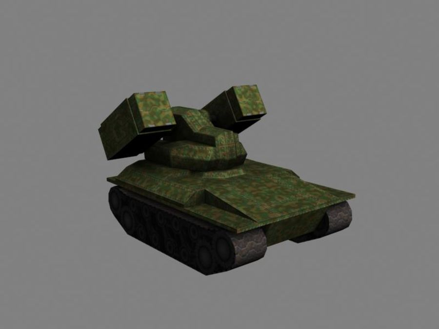 Lowpoly Scifi Military Vehicles Pack royalty-free 3d model - Preview no. 22