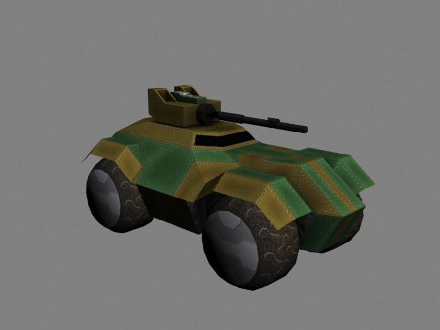Lowpoly Scifi Military Vehicles Pack royalty-free 3d model - Preview no. 1