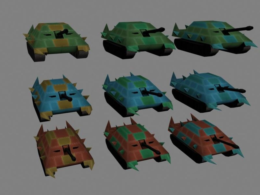 Lowpoly Scifi Military Vehicles Pack royalty-free 3d model - Preview no. 35