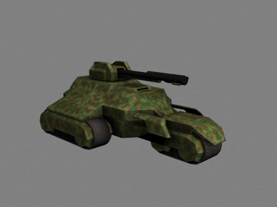 Lowpoly Scifi Military Vehicles Pack royalty-free 3d model - Preview no. 42
